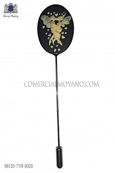 Alfiler camafeo coral negro 98530-7119-8000 Ottavio Nuccio Gala.