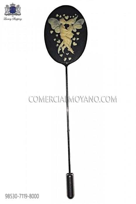 Coral black cameo pin 98530-7119-8000 Ottavio Nuccio Gala.
