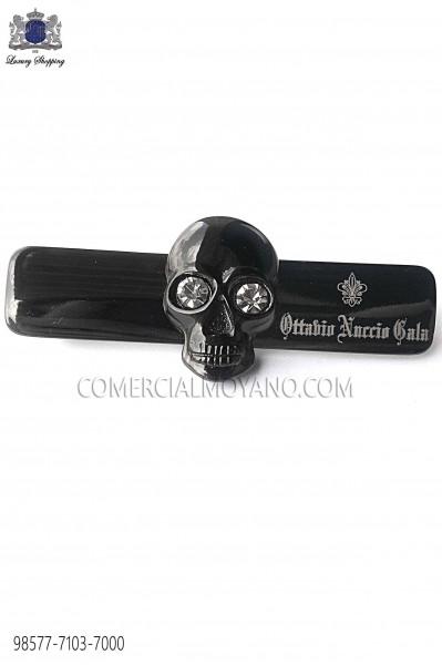 Dark silver skull tie clip 98577-7103-7000 Ottavio Nuccio Gala