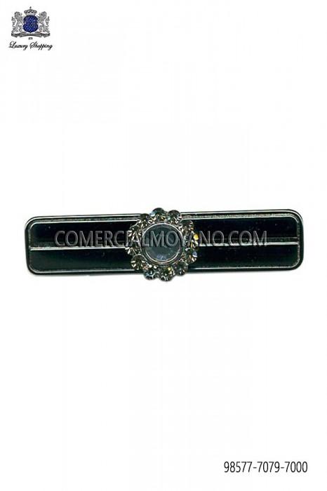 Baroque dark silver tie clip 98577-7079-7000 Ottavio Nuccio Gala.