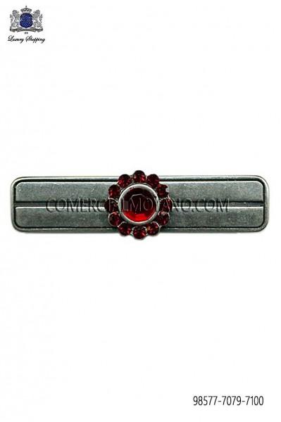 Baroque red crystal tie clip 98577-7079-7100 Ottavio Nuccio Gala.