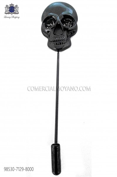 Black skull pin 98530-7129-8000 Ottavio Nuccio Gala.