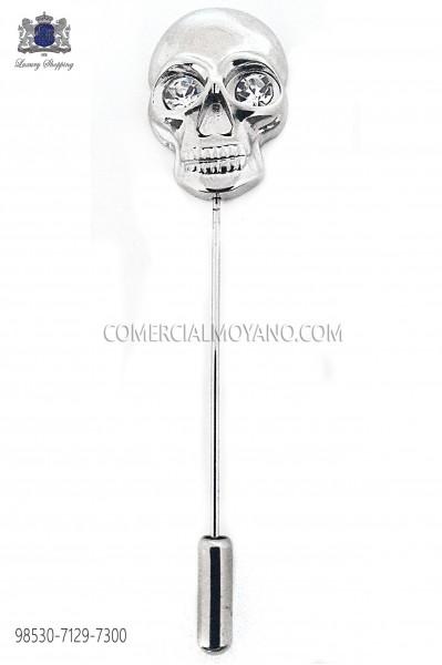 Silver skull pin 98530-7129-7300 Ottavio Nuccio Gala.