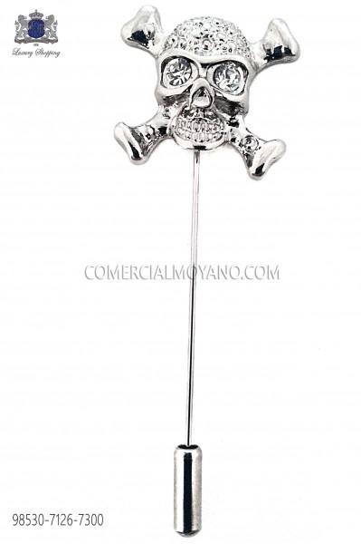 Skull crystal rhinestone pin 98530-7126-7300 Ottavio Nuccio Gala
