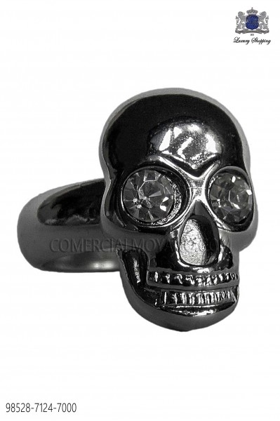 Dark silver skull ring 98528-7124-7000 Ottavio Nuccio Gala