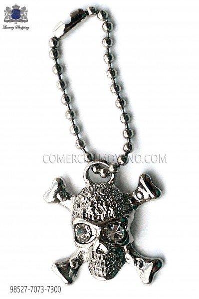 Silver skull pendant 98527-7073-7300 Ottavio Nuccio Gala.
