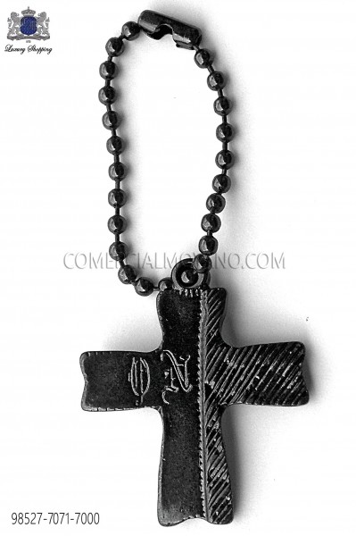 Dark silver cross pendant 98527-7071-7000 Ottavio Nuccio Gala.