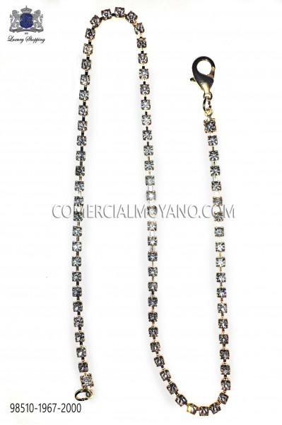 Gold chain with strass cystals 98510-1967-2000 Ottavio Nuccio Gala.