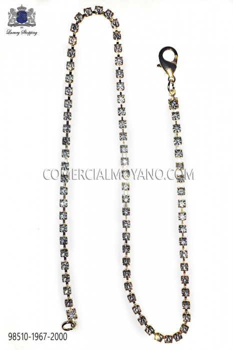 Gold chain with strass cystals 98510-1967-2000 Ottavio Nuccio Gala.