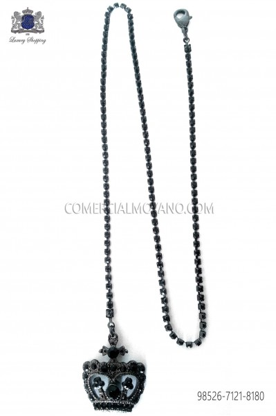 Chain with crown pendant 98526-7121-8180 Ottavio Nuccio Gala.