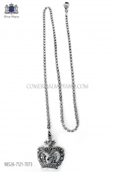 Chain with crown pendant 98526-7121-7073 Ottavio Nuccio Gala.