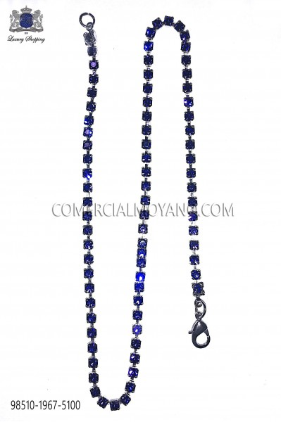 Cadena con cristal strass azul 98510-1967-5100 Ottavio Nuccio Gala.