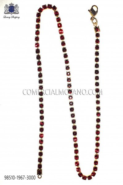 Gold chain with red crystal 98510-1967-3000 Ottavio Nuccio Gala