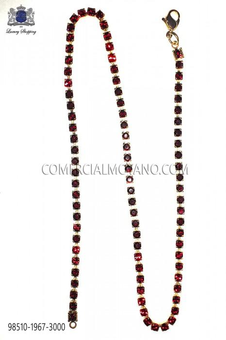 Gold chain with red crystal 98510-1967-3000 Ottavio Nuccio Gala