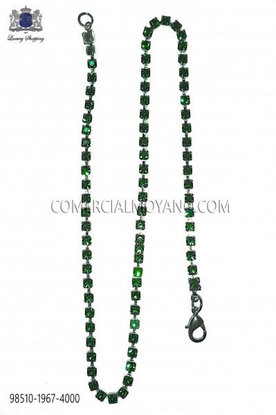 Cadena con cristal verde 98510-1967-4000 Ottavio Nuccio Gala.