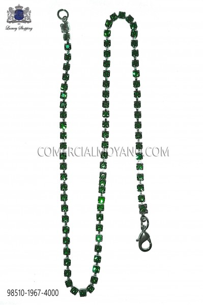 Green crystal chain 98510-1967-4000 Ottavio Nuccio Gala.