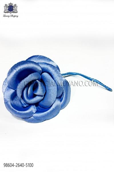 Cobalt blue satin flower 98604-2640-5100 Ottavio Nuccio Gala.