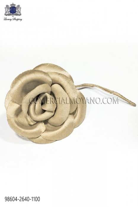 Cream satin flower 98604-2640-1100 Ottavio Nuccio Gala.