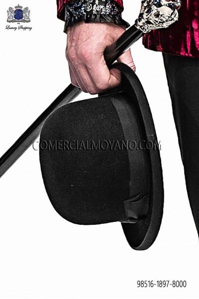 Black bowler hat 98516-1897-8000 Ottavio Nuccio Gala.