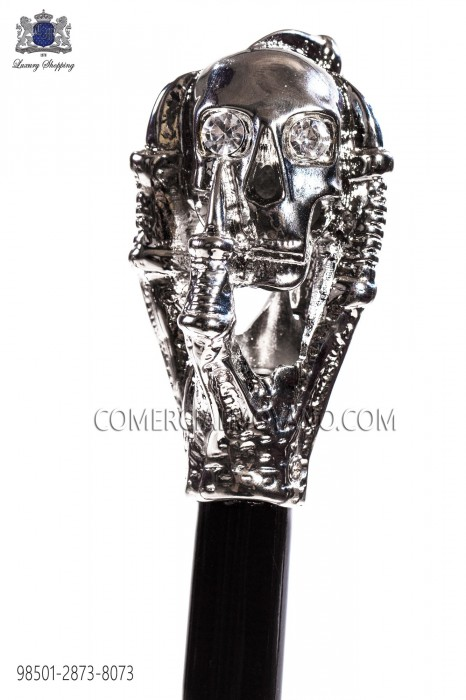 Cane with silver skull handle 98501-2873-8073 Ottavio Nuccio Gala.