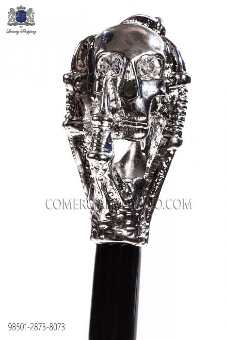 Cane with silver skull handle 98501-2873-8073 Ottavio Nuccio Gala.