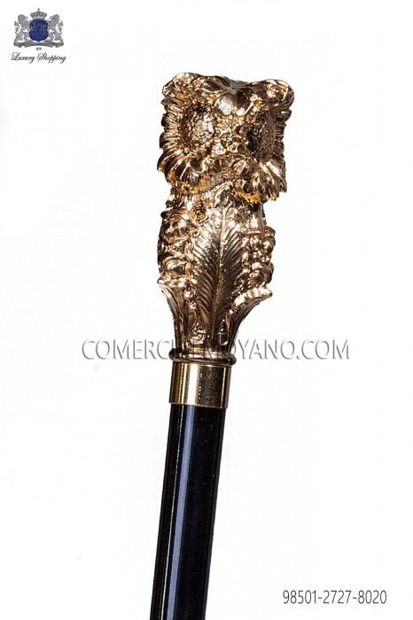Black cane with golden pommel 98501-2727-8020 Ottavio Nuccio Gala.