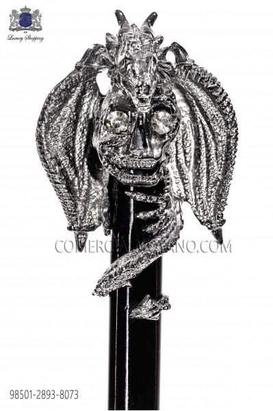 Baston negro con pomo drako 98501-2893-8073 Ottavio Nuccio Gala.