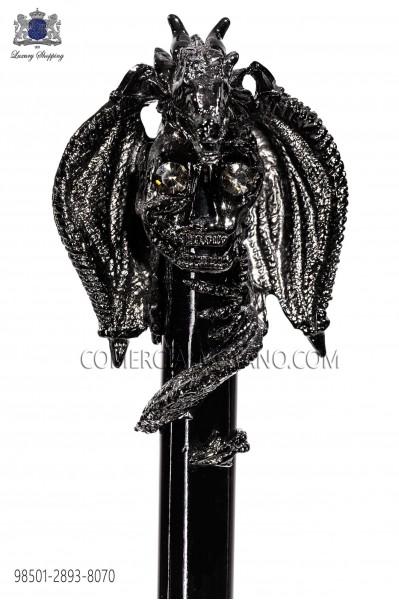 Baston negro con pomo drako cañon de fusil 98501-2893-8070 Ottavio Nuccio Gala.