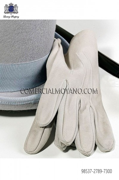 Pear gray gloves 98537-2789-7300 Ottavio Nuccio Gala.