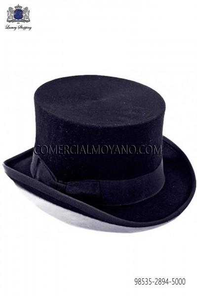 Sombrero de copa azul marino 98535-2894-5000 Ottavio Nuccio Gala.