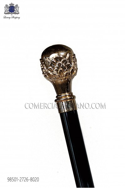 Black cane with gold handle 98501-2726-8020 Ottavio Nuccio Gala.