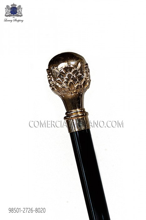 Black cane with gold handle 98501-2726-8020 Ottavio Nuccio Gala.