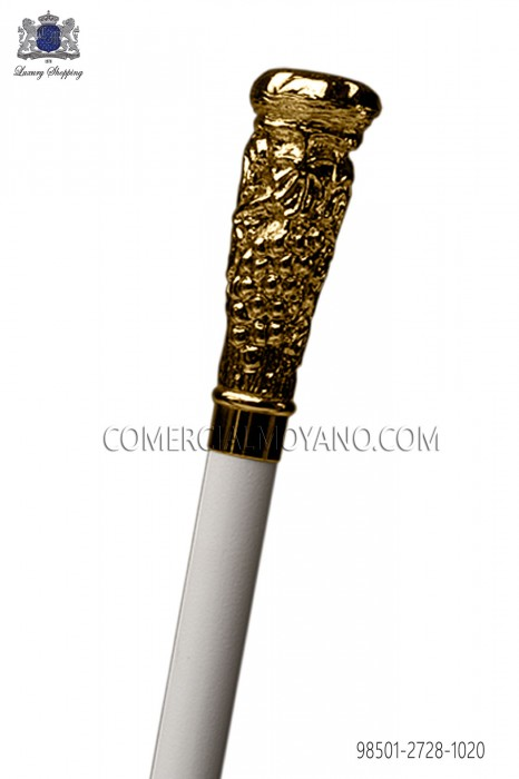 White cane with gold handle cluster 98501-2728-1020 Ottavio Nuccio Gala.