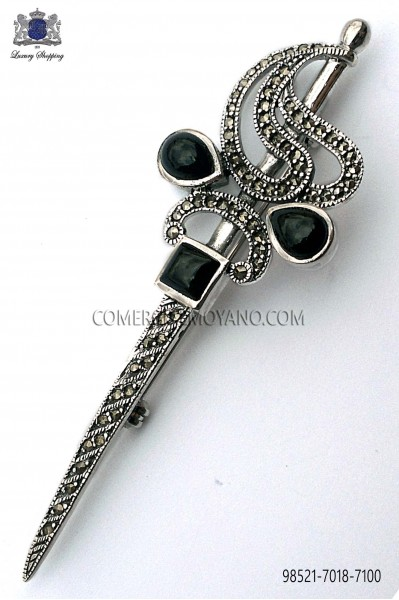 Broche espada de plata 98521-7018-7100 Ottavio Nuccio Gala.