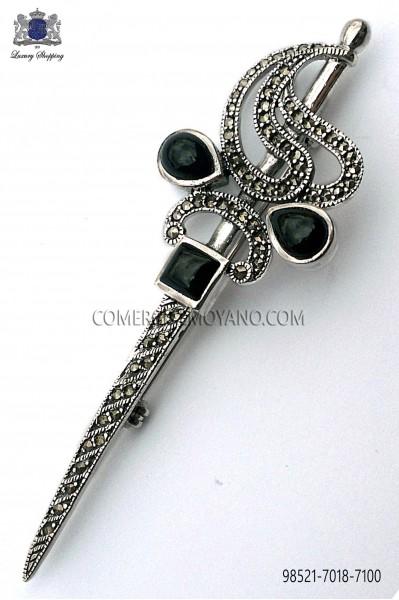 Silver sword brooch 98521-7018-7100 Ottavio Nuccio Gala.