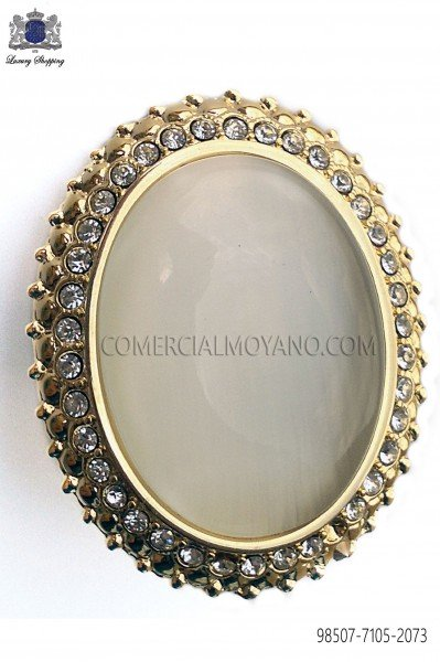 Broche dorado con camafeo marfil 98507-7105-2073 Ottavio Nuccio Gala.
