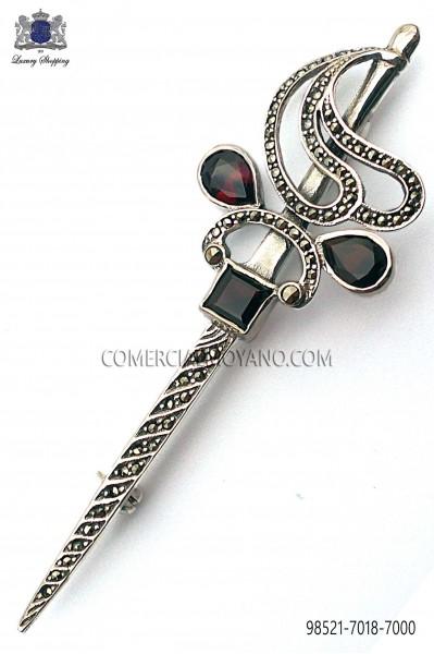Silver sword lapel pin 98521-7018-7000 Ottavio Nuccio Gala.