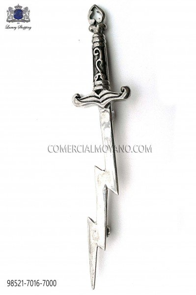 Broche espada rayo en plata de ley 98521-7016-7000 Ottavio Nuccio Gala.