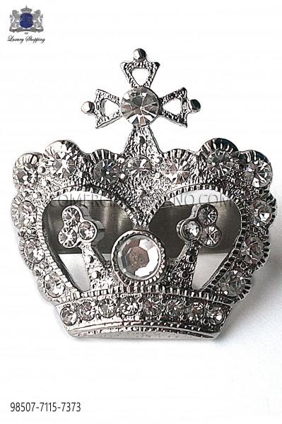 Broche corona con acabado niquel 98507-7115-7373 Ottavio Nuccio Gala.