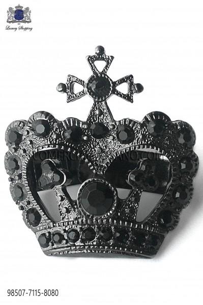 Broche corona con acabado cañon de fusil 98507-7115-8080 Ottavio Nuccio Gala.