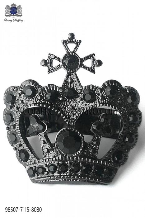 Gunmetal grey crown clasp 98507-7115-8080 Ottavio Nuccio Gala.