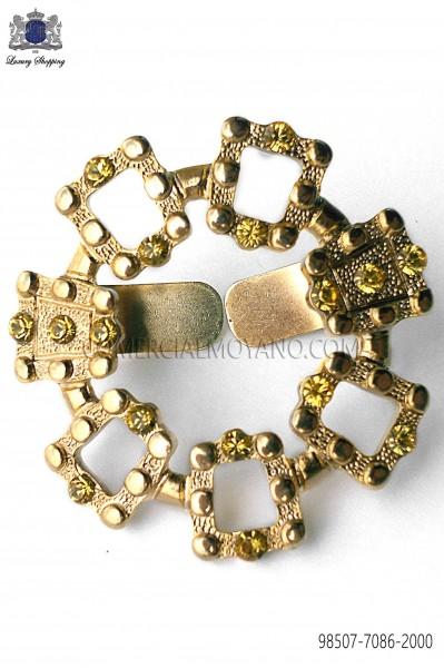 Broche metalico acabado oro 98507-7086-2000 Ottavio Nuccio Gala.