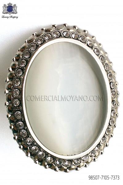 Broche niquel con camafeo efecto madre perla 98507-7105-7373 Ottavio Nuccio Gala.