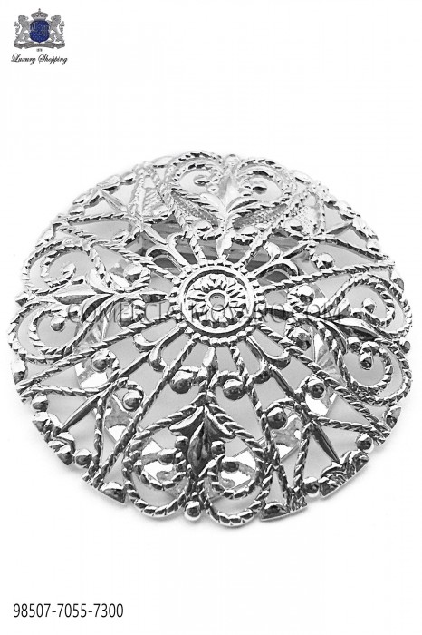 Silver baroque clasp 98507-7055-7300 Ottavio Nuccio Gala.