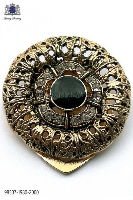 Golden round baroque clasp 98507-1980-2000 Ottavio Nuccio Gala.