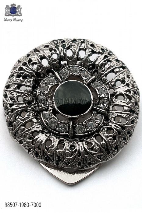 Silver round baroque clasp 98507-1980-7000 Ottavio Nuccio Gala.