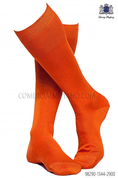Orange socks 98290-1344-2900 Ottavio Nuccio Gala.