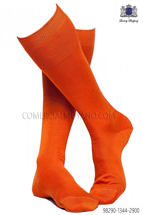 Orange socks 98290-1344-2900 Ottavio Nuccio Gala.
