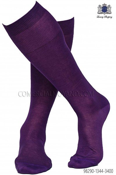 Purple socks 98290-1344-3400 Ottavio Nuccio Gala.