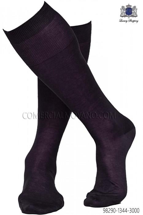 Dark prune socks 98290-1344-3000 Ottavio Nuccio Gala.